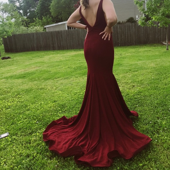 Tiffany Designs Dresses & Skirts - Maroon mermaid style prom dress